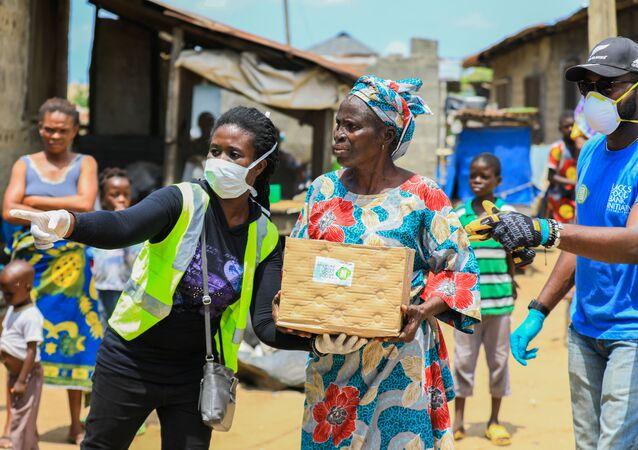 Personas con ayuda humanitaria en Nigeria