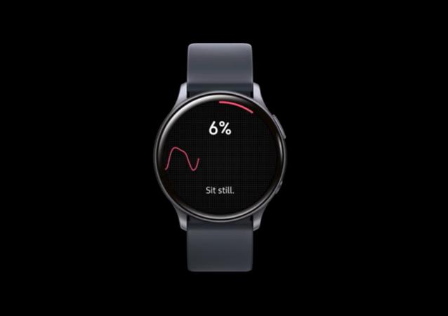 Galaxy Watch Active 2 con la aplicación de medición de la tensión arterial