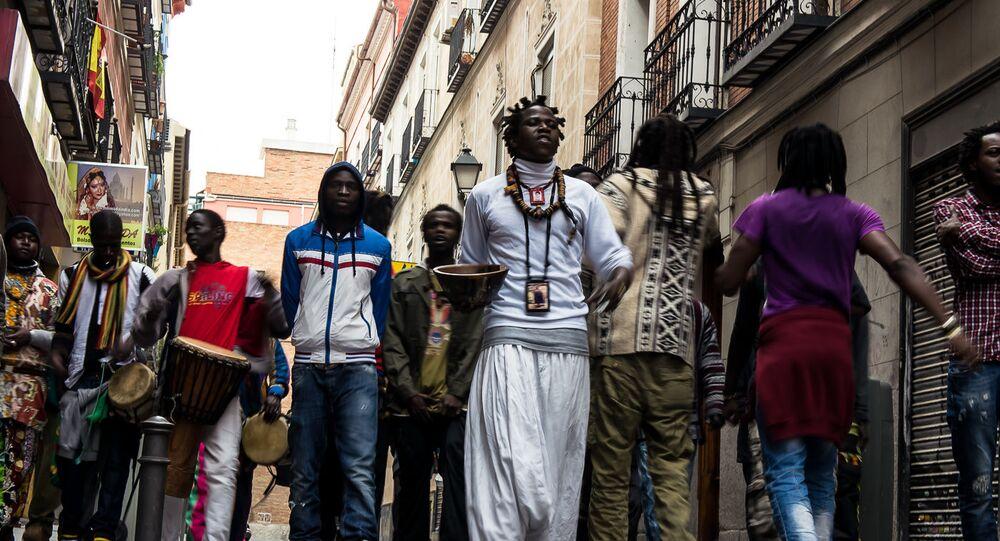 Senegaleses en el barrio de Lavapiés