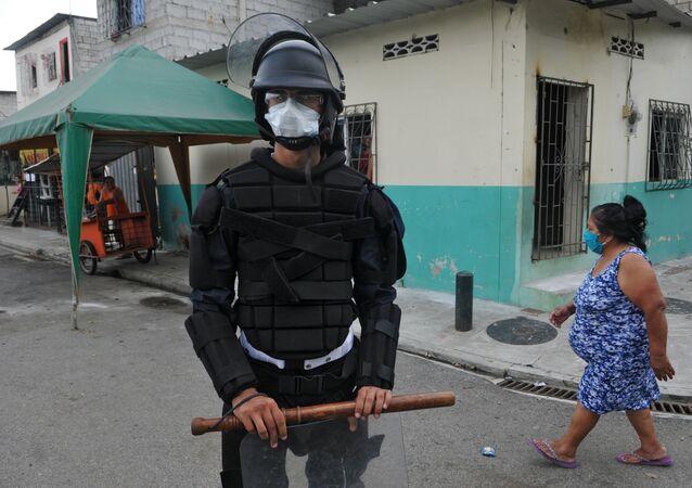 Policía en Guayaquil, Ecuador