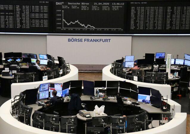 La bolsa de valores en Frankfurt