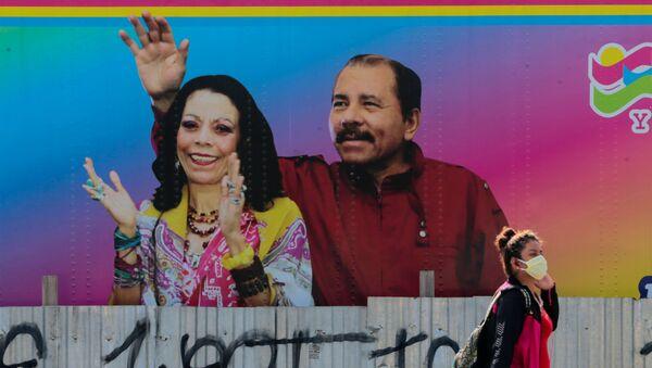 El presidente de Nicaragua, Daniel Ortega, y la vicepresidenta de la República, Rosario Murillo - Sputnik Mundo