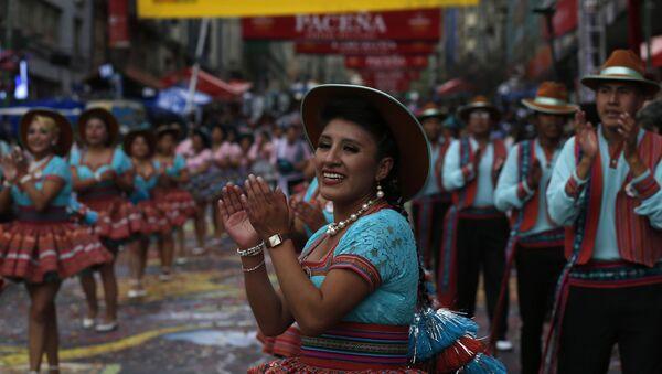 Entrada del Gran Poder, el mayor festival folclórico callejero de La Paz - Sputnik Mundo