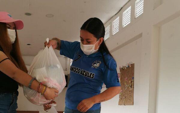 Entrega de alimentos en la localidad de Chapinero, Bogotá - Sputnik Mundo