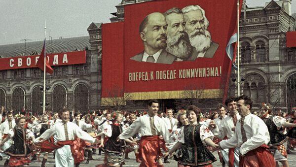 Celebraciones en la Plaza Roja, Moscú (archivo) - Sputnik Mundo