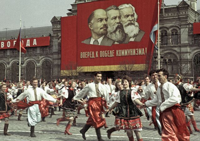 Celebraciones en la Plaza Roja, Moscú (archivo)