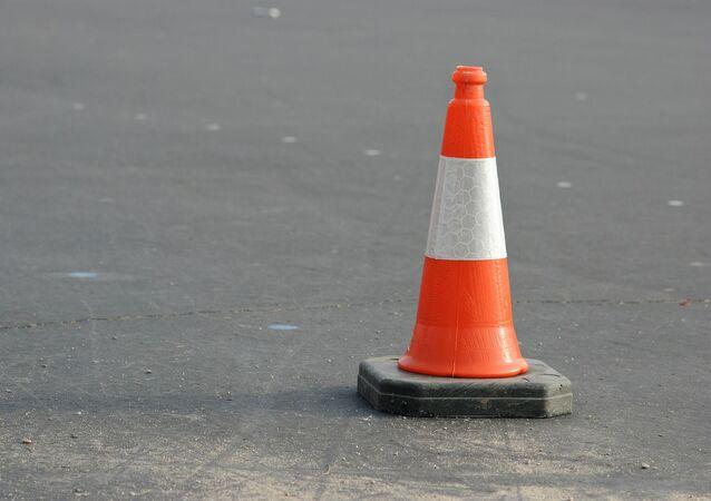 Un cono de tránsito