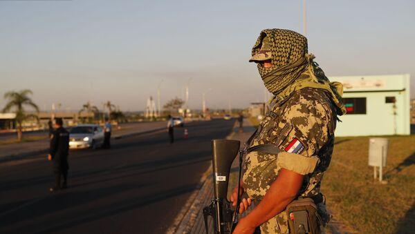Un efectivo militar de Paraguay - Sputnik Mundo