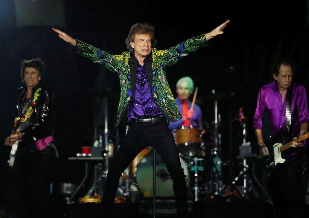 Los Rolling Stones durante un concierto en Californa, el agosto de 2019