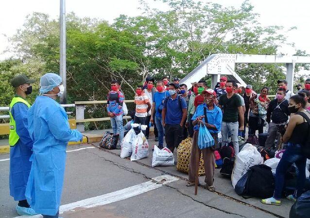 Migrantes venezolanos (archivo)