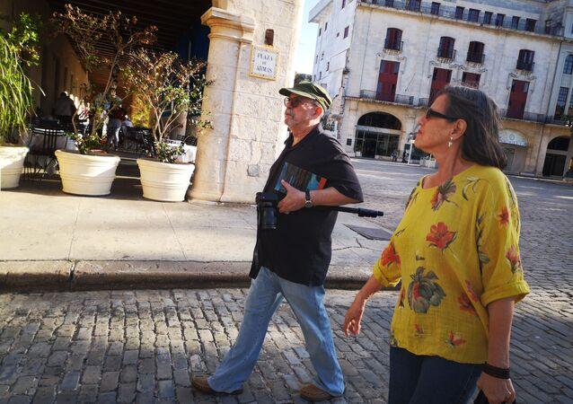 Silvio Rodríguez en la Habana Vieja