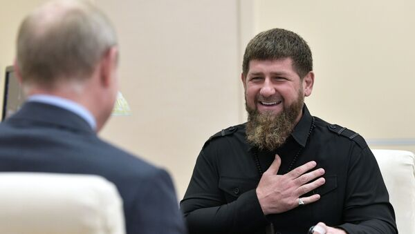 Ramzán Kadírov y Vladímir Putin - Sputnik Mundo
