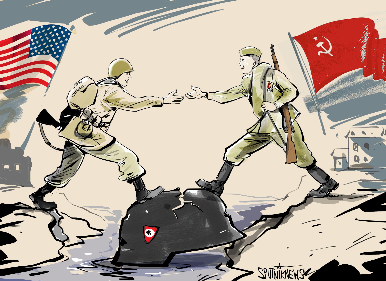 El día en el que la reunión de EEUU y la URSS marcó el fin de la Alemania nazi