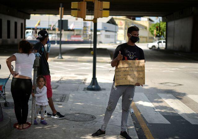 Migrantes venezolanos durante el brote de coronavirus