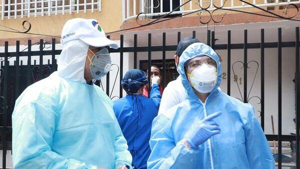 Funcionarios de la Alcaldía de Cali buscando infectados de COVID-19 - Sputnik Mundo
