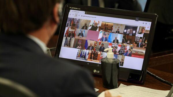 Una videoconferencia del G20  - Sputnik Mundo
