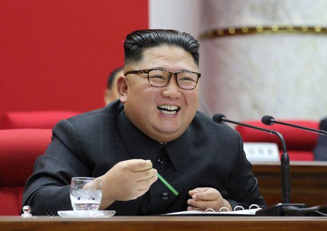 Kim Jong-un en un reunión del Partido de los Trabajadores de Corea del Norte