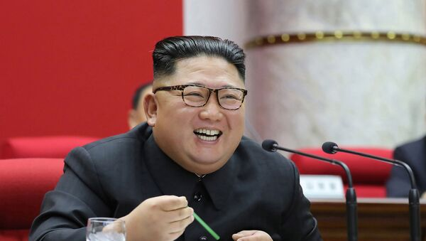 Kim Jong-un en un reunión del Partido de los Trabajadores de Corea del Norte - Sputnik Mundo