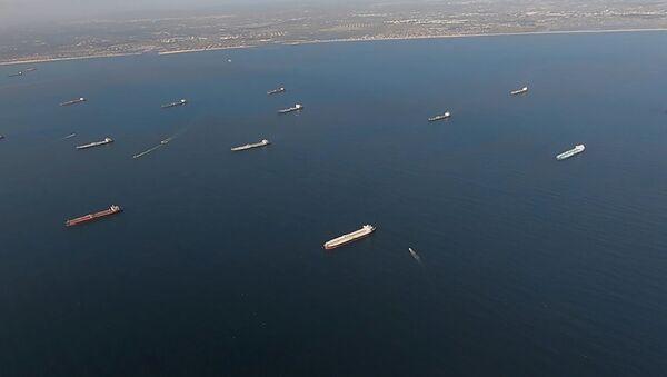Petroleros varados en la costa de California, EEUU - Sputnik Mundo