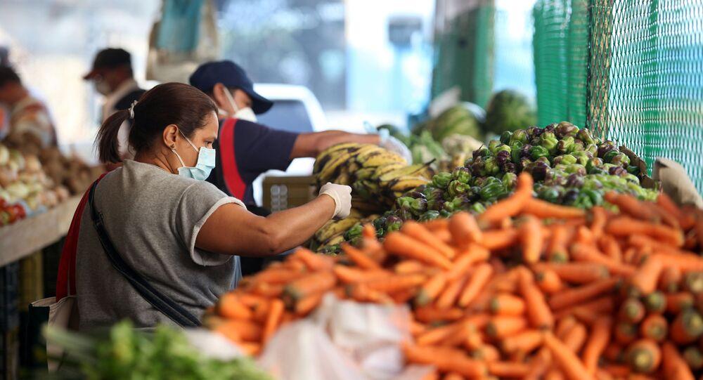 Un mercado en Caracas, Venezuela