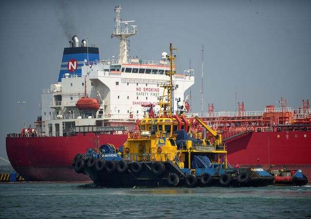 Un tanker en el estado de Veracruz, México