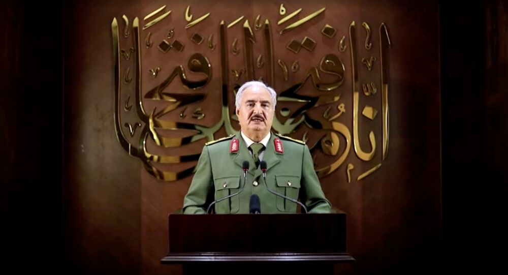 Mariscal Jalifa Haftar, el jefe del Ejército Nacional Libio