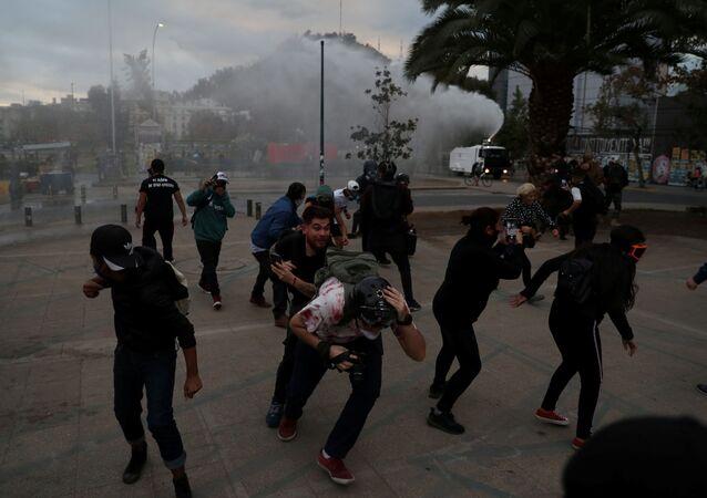 Protesta contra el Gobierno de Chile