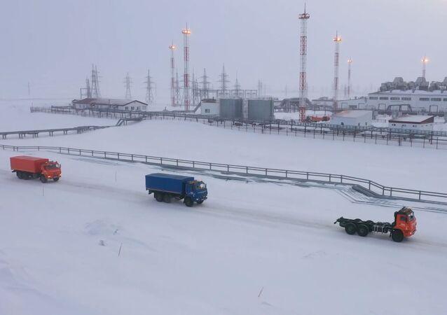 Prueban los camiones autónomos Kamaz en condiciones extremas en Rusia