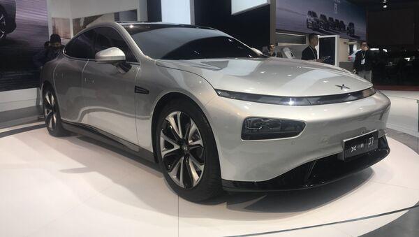 Xpeng P7, auto eléctrico chino - Sputnik Mundo