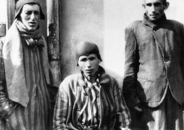 Prisioneros del campo de concentración Dachau