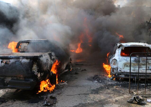 Explosión de un camión cisterna con combustible en Afrín