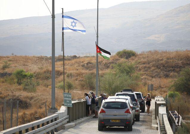 El parque de Naharayim en la frontera entre Israel y Jordania