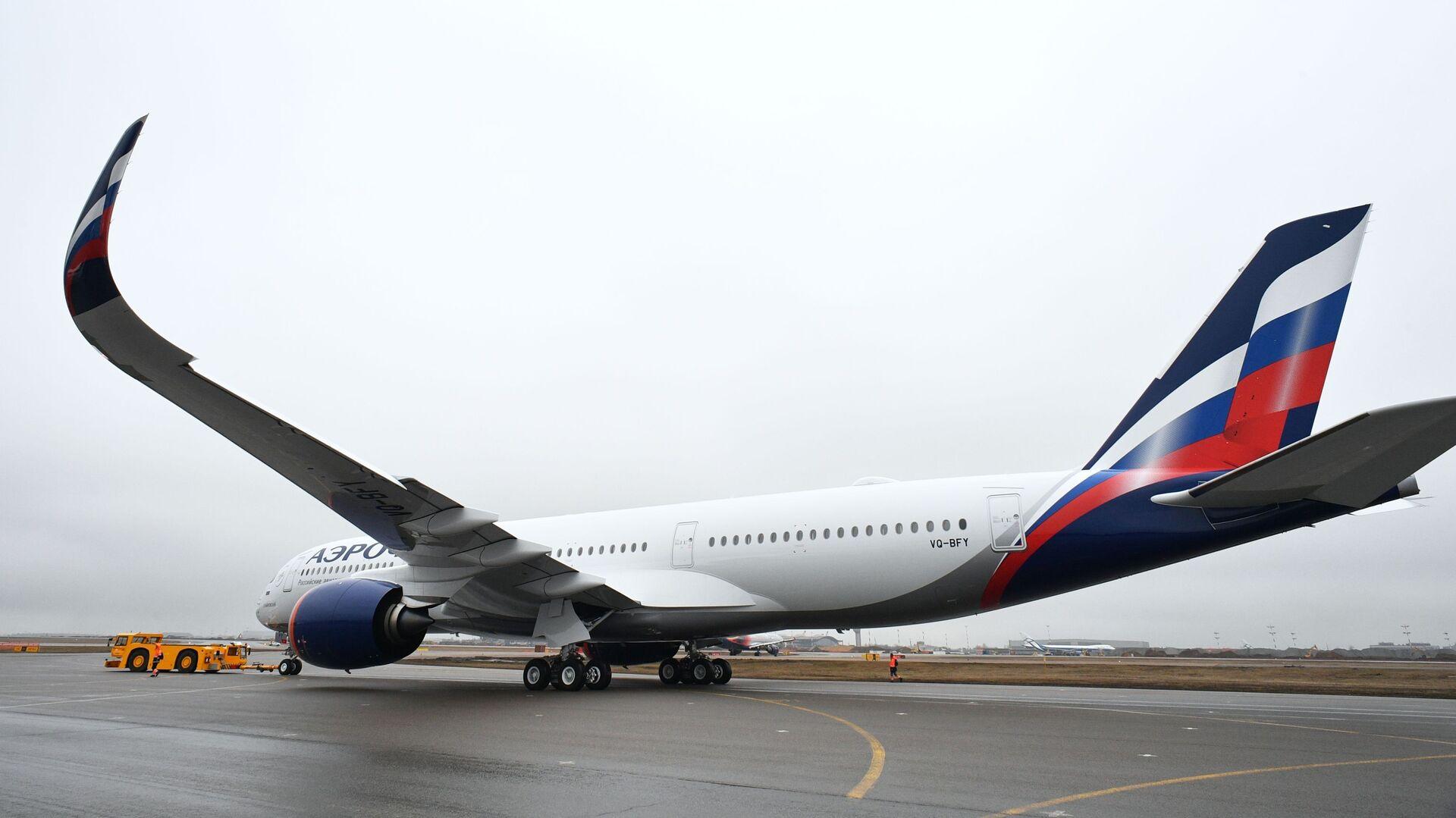 Presentación del primer Airbus A350-900 de la aerolínea rusa, Aeroflot - Sputnik Mundo, 1920, 14.05.2021