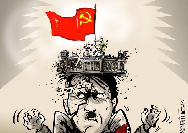 Momento de triunfo: la bandera soviética que derrotó a Hitler