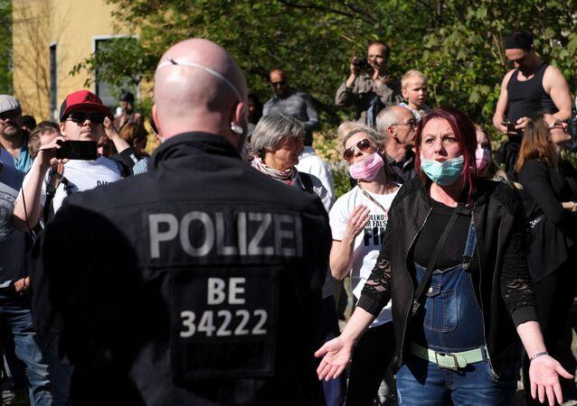 Una protesta en Berlín