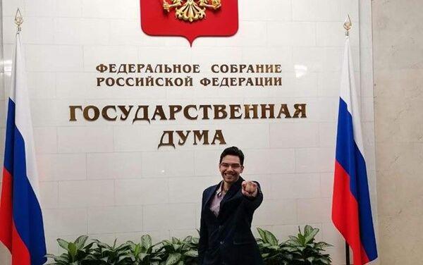 David Gómez Rodríguez en la Duma Estatal - Sputnik Mundo