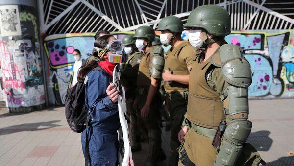 Manifestación por el Día del Trabajador en Chile - Sputnik Mundo