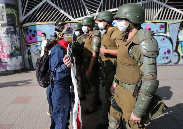 Manifestación por el Día del Trabajador en Chile