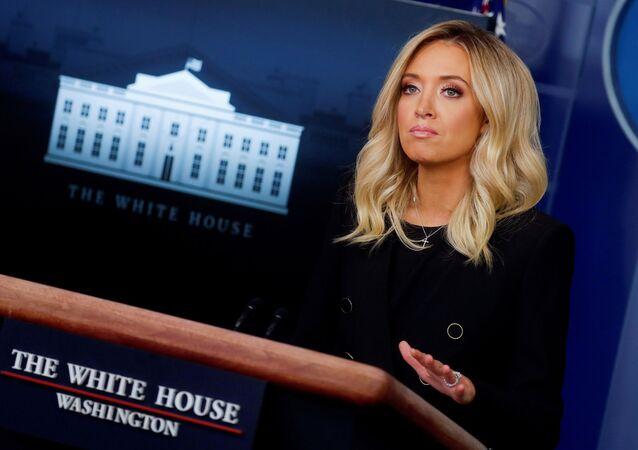 Kayleigh McEnany, la portavoz de la Casa Blanca
