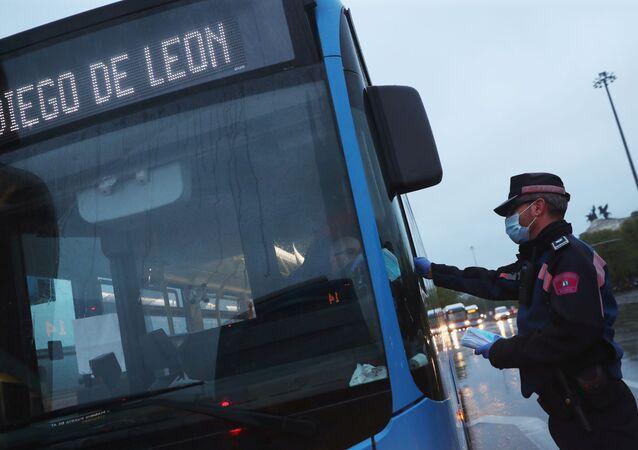 Un autobús en Madrid