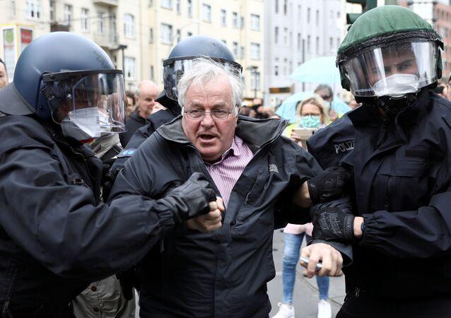 Protesta en Berlín contra las restricciones por el coronavirus, archivo