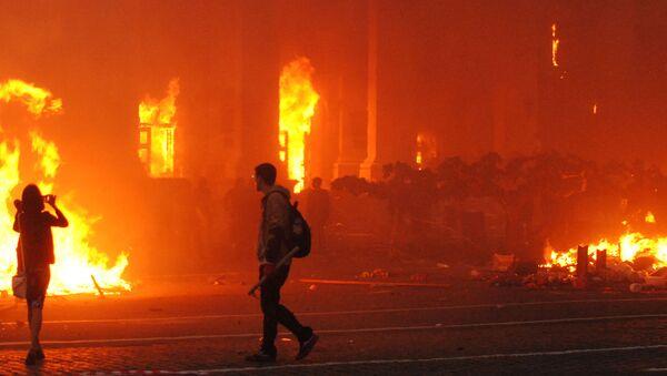 El incendio en la casa de los sindicatos en Odesa - Sputnik Mundo