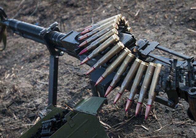 Una ametralladora pesada DShK