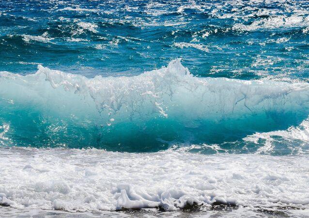 Una ola del océano, referencial
