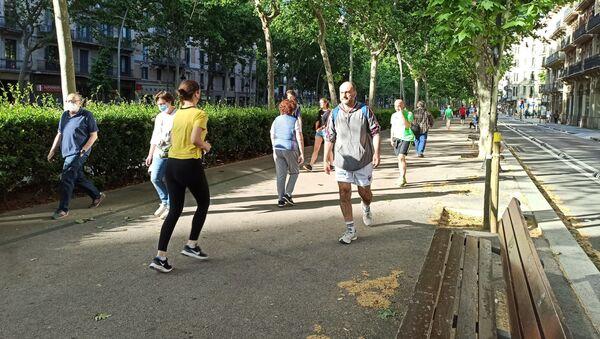 Una calle de Barcelona - Sputnik Mundo