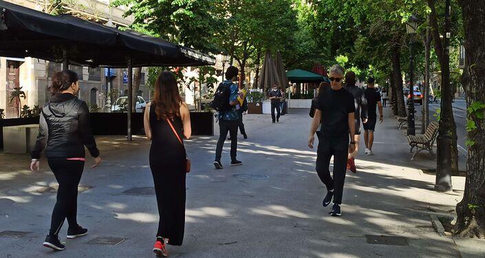 Una calle de Barcelona