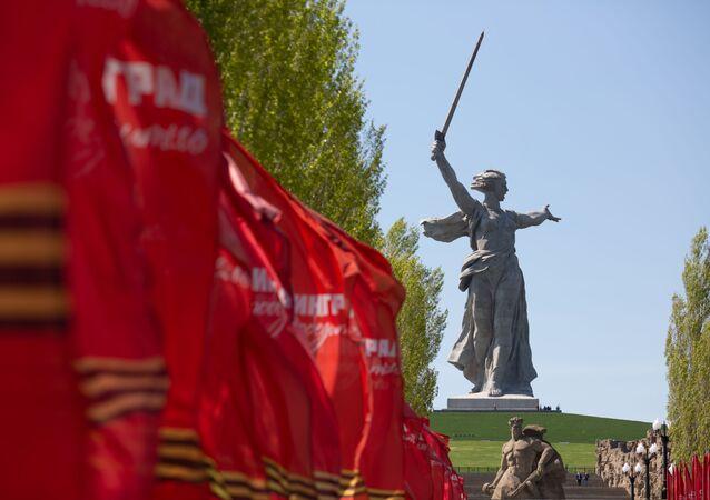 Monumento a la Madre Patria en Volgogrado (Rusia)