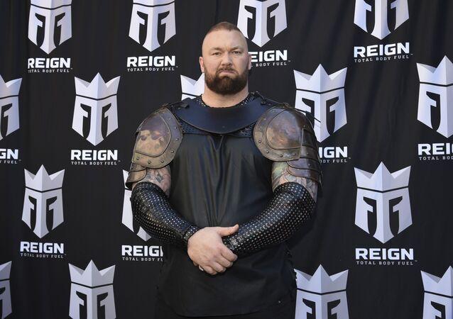 Hafthor Björnsson, actor y atleta de fuerza profesional islandés