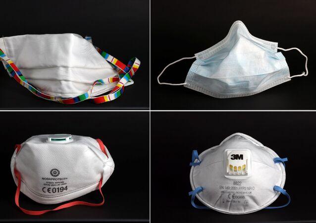 Cuatro mascarillas que se usan contra coronavirus
