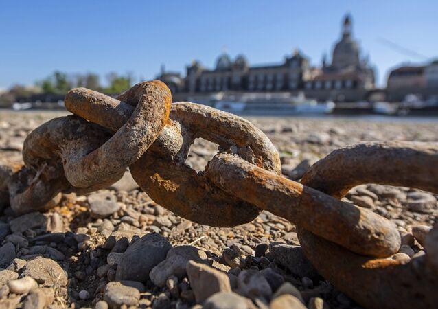 El río Elba se queda casi sin agua como consecuencia de la sequía en Alemania
